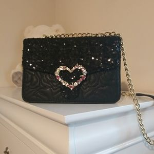 Betsey Johnson Bag Black sequins